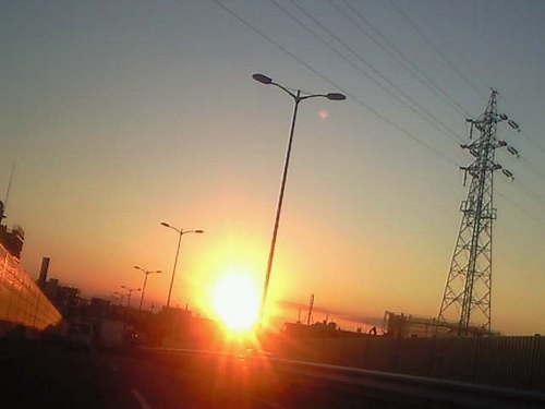 2013 1月の夕日.jpgのサムネール画像