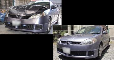 キズ・へこみ・ボデー修理 板金塗装 中古車や再生部品を利用して格安修理!