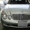 メルセデスベンツ E240 格安車検 + バッテリー交換 費用例