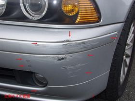 BMW 525i (E39) 板金・塗装 こすり傷とへこみ修理