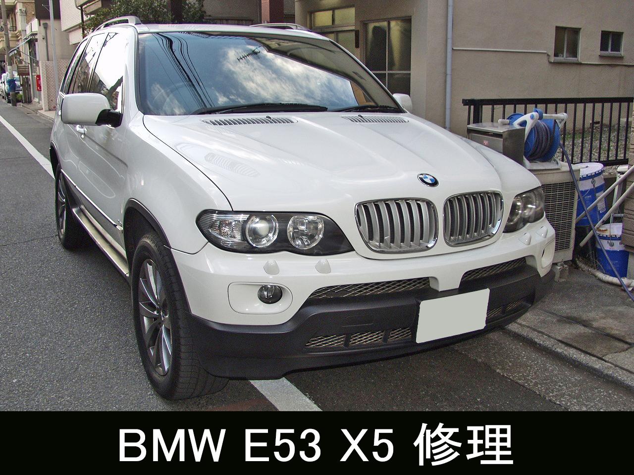 BMW E53 X5 異音発生~ウォーターポンプ交換画像